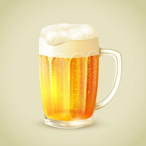 Tazza di emblema della birra vettore