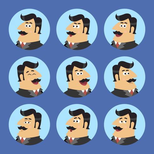 Set di icone azionista business vettore