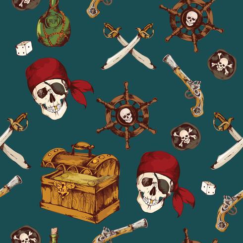 Pirati senza cuciture vettore