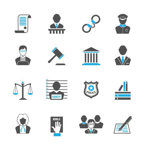 Set di icone di legge vettore