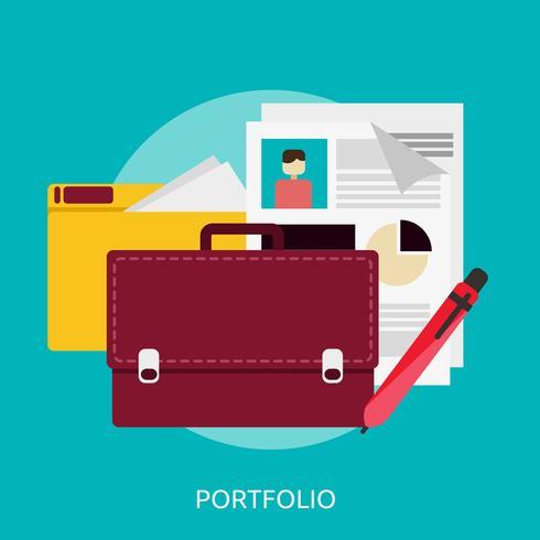 Progettazione dell'illustrazione concettuale del portafoglio vettore