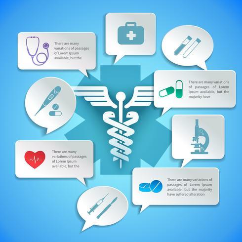 Infografica di carta medica vettore