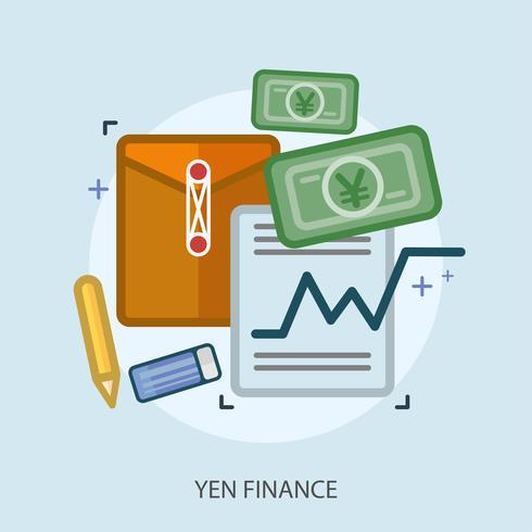 Progettazione concettuale dell'illustrazione di finanza di Yen vettore