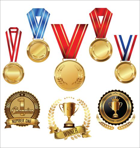 medaglie vettore