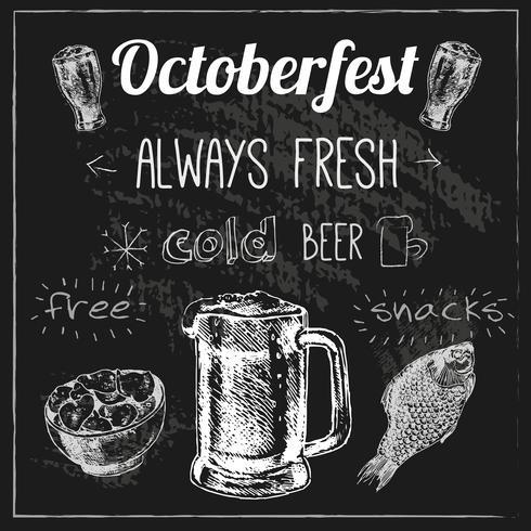 Design della birra Oktoberfest vettore