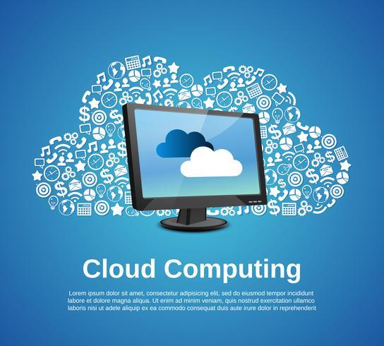 Concetto di cloud computing vettore