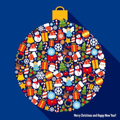 Palla di decorazione natalizia vettore