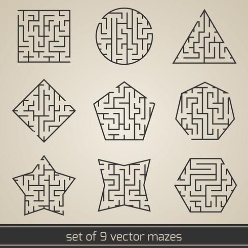 Labirinto set labirinto vettore