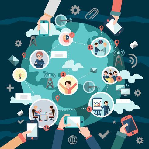 Concetto di rete sociale vettore
