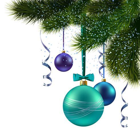 Ramo di un albero di Natale vettore