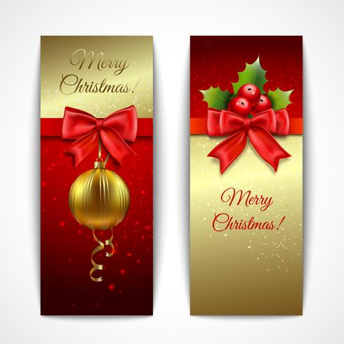 Banner di Natale verticale vettore