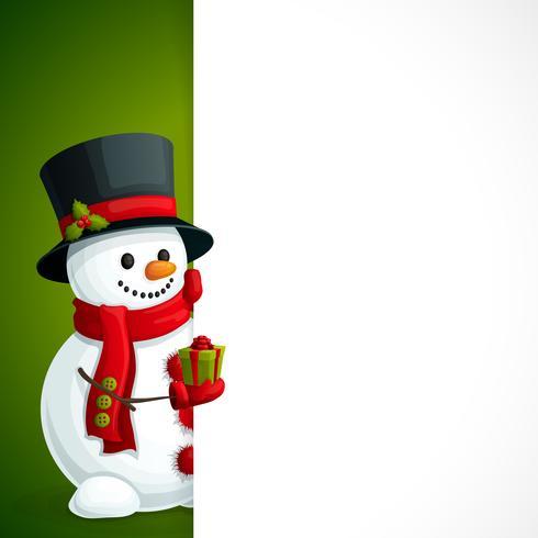 Opuscolo di Natale del pupazzo di neve vettore