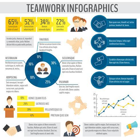 Infografica di lavoro di squadra vettore