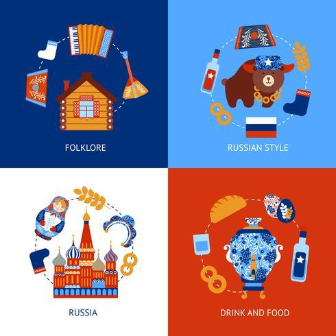 Set piatto da viaggio Russia vettore