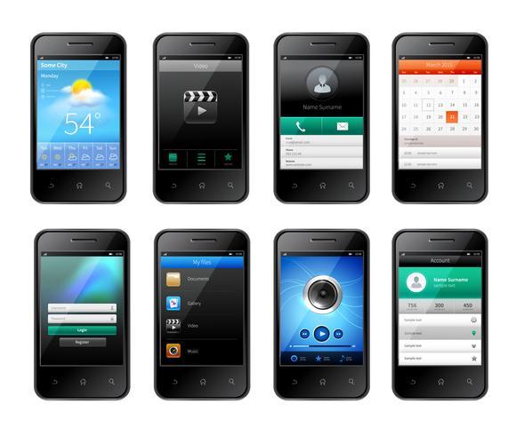Design dell'interfaccia utente mobile vettore