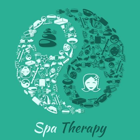 Concetto di terapia termale vettore