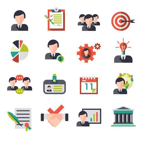 Icone di gestione aziendale vettore