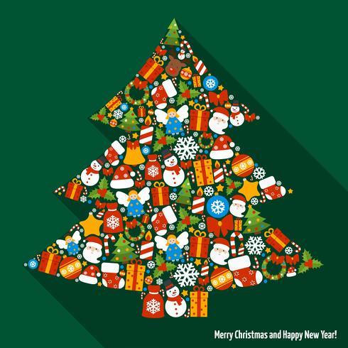 Albero di pino di Natale vettore