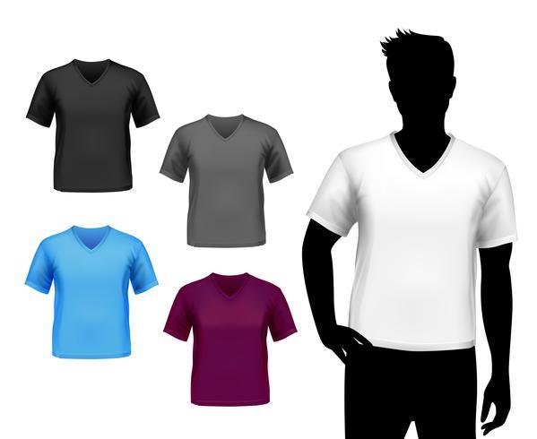 T-shirt uomo set vettore