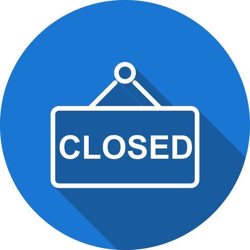 Icona del segno chiuso vettoriale
