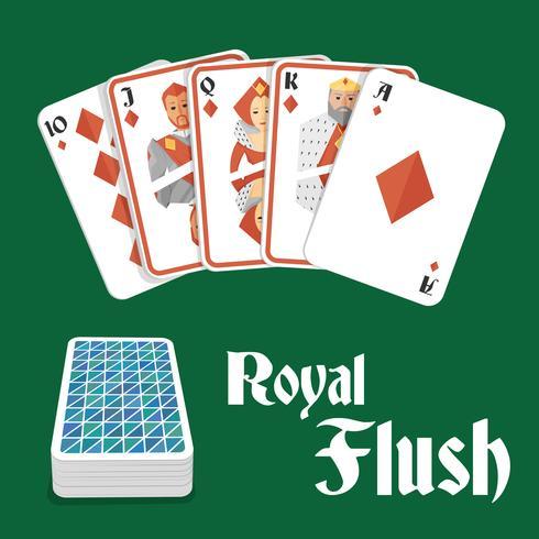Mano di poker scala reale vettore