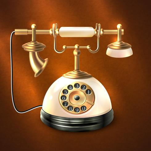 Telefono stile retrò vettore