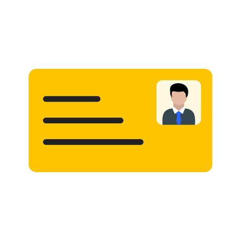 Icona della carta d'identità vettore