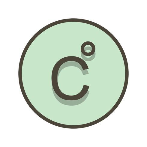 Icona di vettore di Celsius
