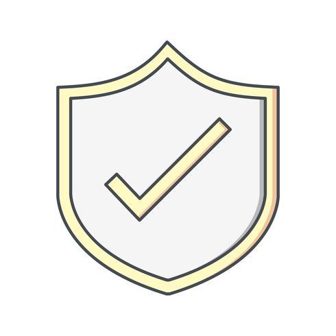 Scudo icona vettoriale