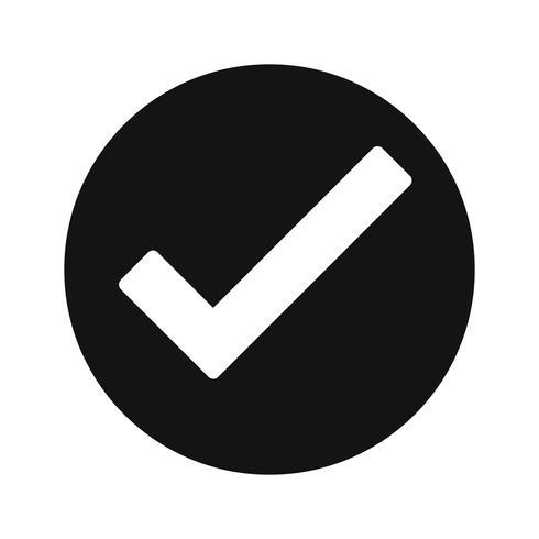 Icona valida di vettore