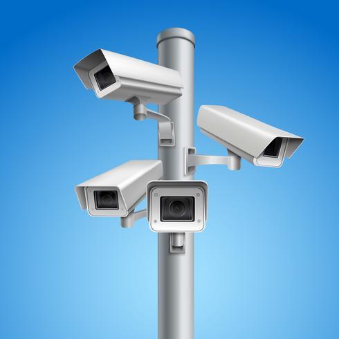 Pilastro della telecamera di sorveglianza vettore