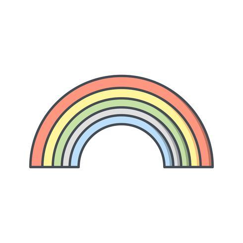 Icona di vettore arcobaleno