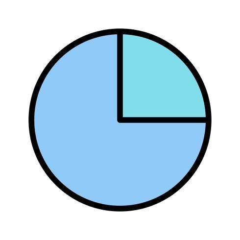 Icona del grafico a torta di vettore