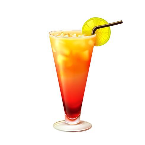 Cocktail alba Tequila realistico vettore