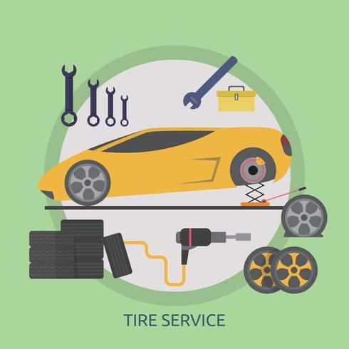 Progettazione concettuale dell'illustrazione di servizio della gomma vettore