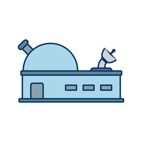 Icona di vettore dell'osservatorio