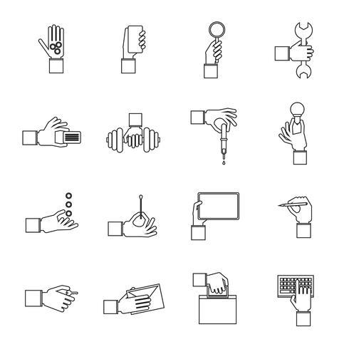 Insieme di contorni di oggetti di partecipazione vettore