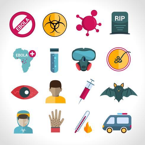 Icone del virus Ebola vettore