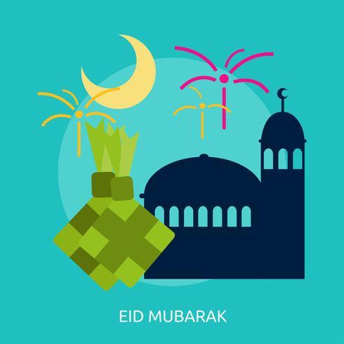 Progettazione dell'illustrazione concettuale di Eid Mubarak vettore