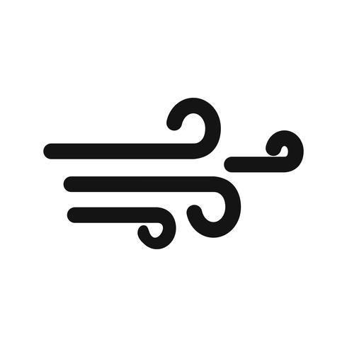 Icona del vettore di vento