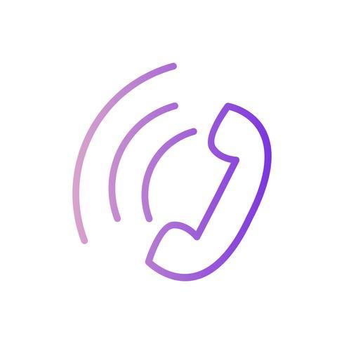 Icona di chiamata attiva vettoriale