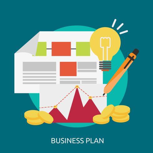 Progettazione concettuale dell'illustrazione del business plan vettore