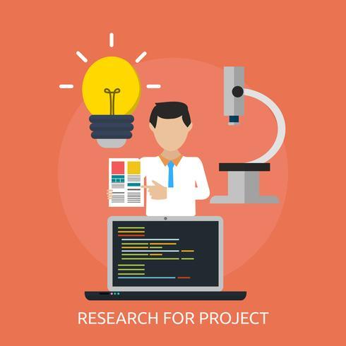 Progettazione dell'illustrazione concettuale del progetto di ricerca vettore