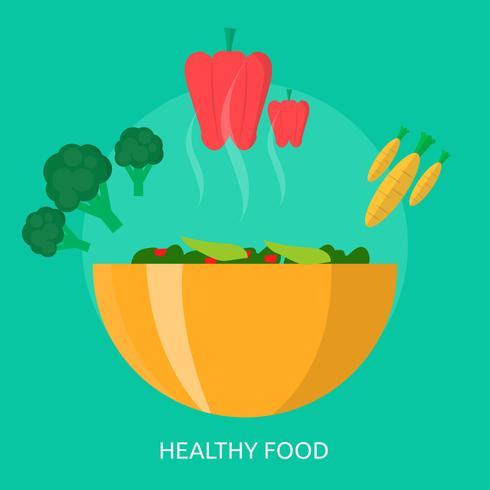 Progettazione dell'illustrazione concettuale dell'alimento sano vettore