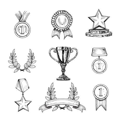 Icone del premio impostate vettore