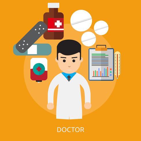 Progettazione dell'illustrazione concettuale di medico vettore