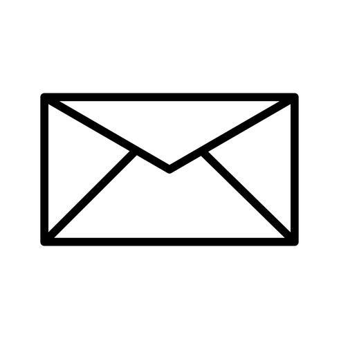 Icona di casella di posta vettore