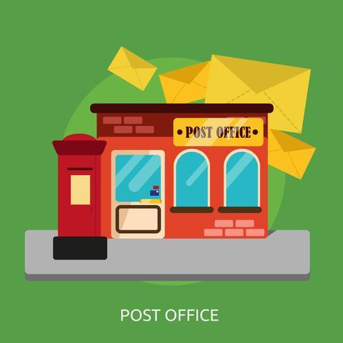 Disegno dell'illustrazione concettuale dell'ufficio postale vettore