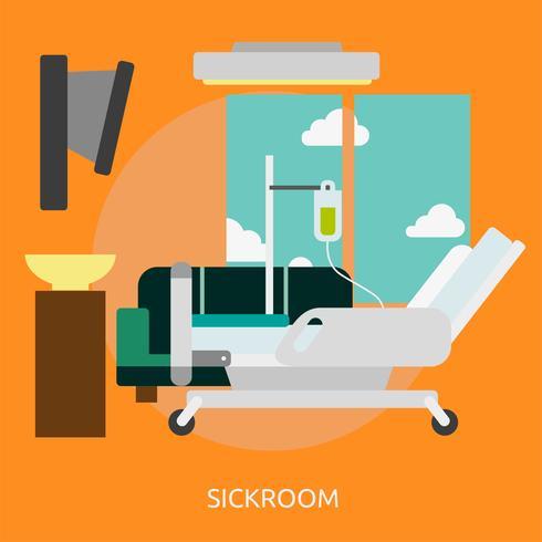 Disegno dell'illustrazione concettuale dello Sickroom vettore