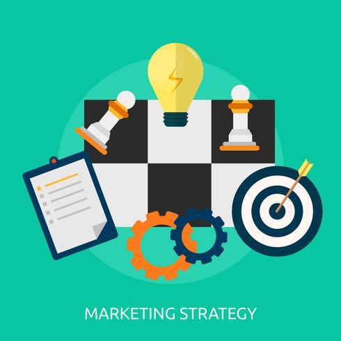Progettazione concettuale dell'illustrazione di strategia di marketing vettore